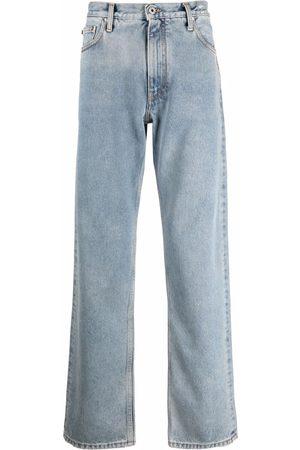 OFF-WHITE Diag-print straight-leg jeans