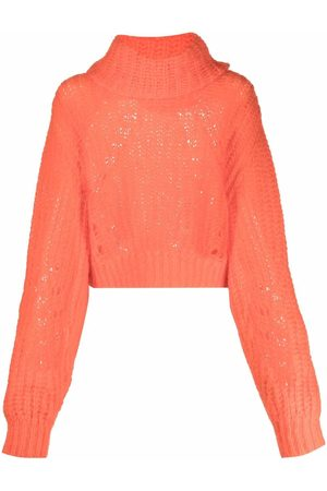 P.A.R.O.S.H. Mulher Camisolas - High neck open knit jumper