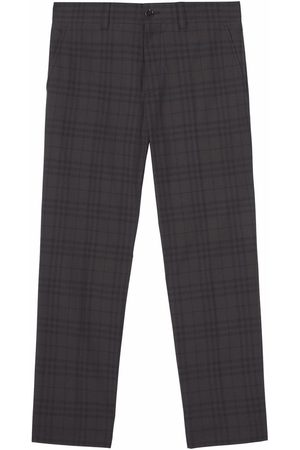 Burberry Check-pattern tailored trousers