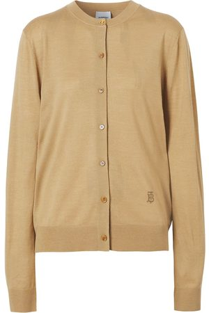 Burberry Mulher Camisolas - TB monogram knitted cardigan