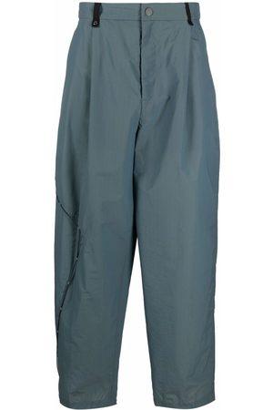 A BETTER MISTAKE Homem Calças à Boca-de-sino - Asymmetrical drawstring wide-leg trousers