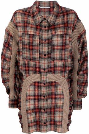 Stella McCartney Check-pattern mini shirtdress