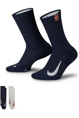 Nike Mulher Meias - Meias de ténis subidas Court Multiplier Cushioned (2 pares) - Multicolor