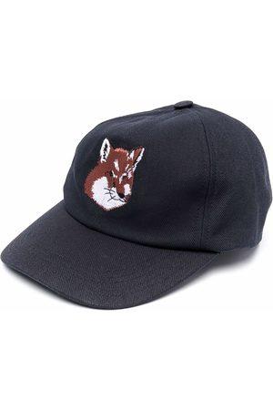 Maison Kitsuné Fox head embroidered cap