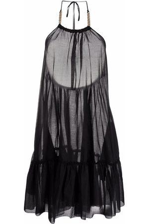 Stella McCartney Tiered halterneck dress