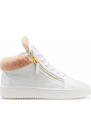 Giuseppe Zanotti Mulher Sapatos desportivos - Kriss shearling-lined mid-top trainers