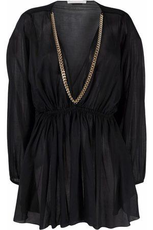 Stella McCartney Chain detail V-neck blouse