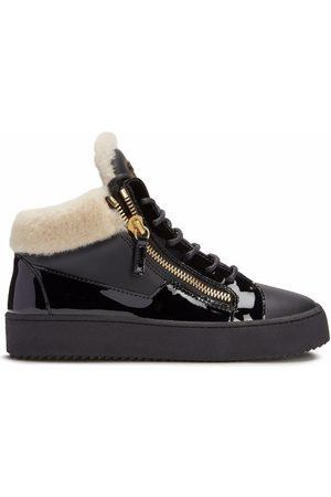 Giuseppe Zanotti Mulher Sapatos desportivos - Kriss leather mid-top trainers