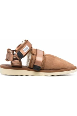 SUICOKE Shearling-lined closed toe sandals