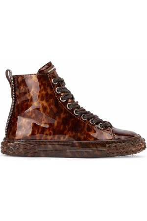 Giuseppe Zanotti Homem Ténis - Leopard-print Blabber sneakers