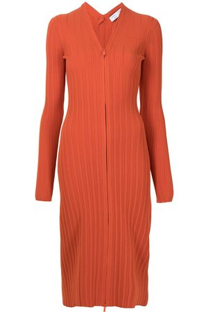 Proenza Schouler White Label Ribbed knitted cardigan dress