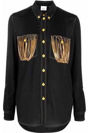 Burberry Mulher Camisas - Chain pocket detail shirt