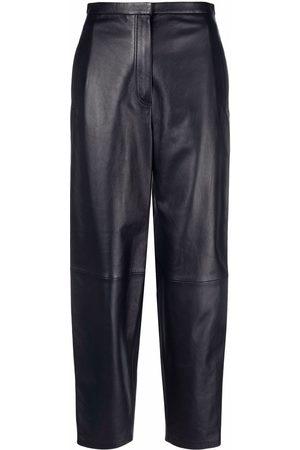 12 STOREEZ Mulher Calças em Pele - Balloon-leg leather trousers