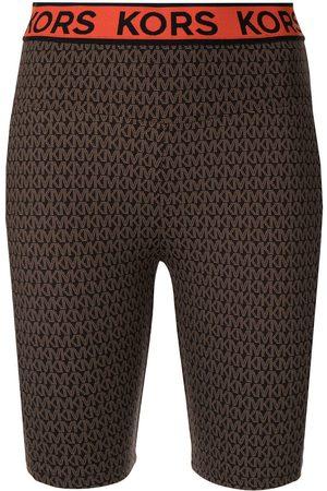 Michael Kors MK Go-print biker shorts