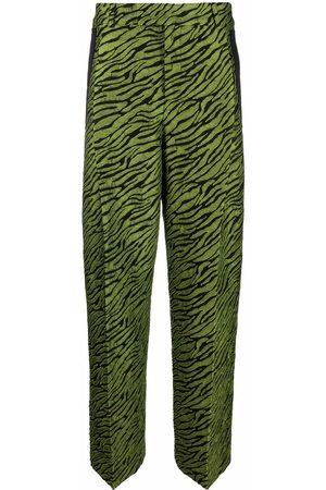A BETTER MISTAKE Zebra-print wide-leg trousers