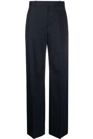 There Was One Mulher Calças Formal - High-waisted straight-leg tailored trousers