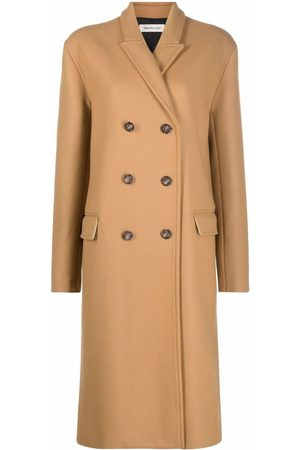 There Was One Peak-lapel double-breasted long coat