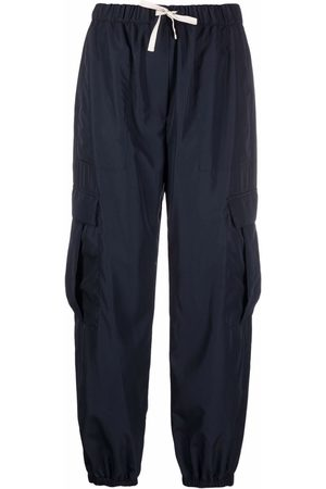 There Was One Mulher Calças Cargo - Cargo drawstring-waist cropped trousers