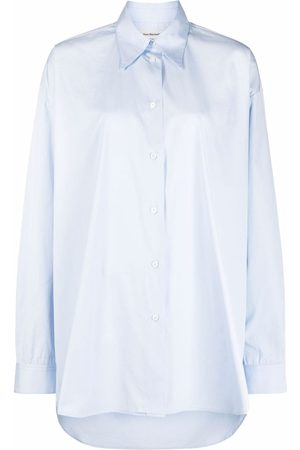 There Was One Mulher Casual - Oversized poplin long-sleeve shirt