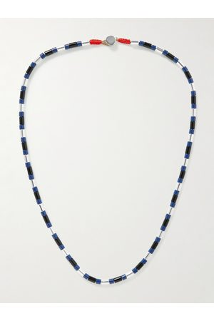 Roxanne Assoulin Homem Colares - Well Suited Enamel and Silver-Tone Necklace