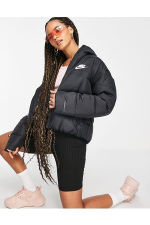 Nike Classic padded jacket with hood in black