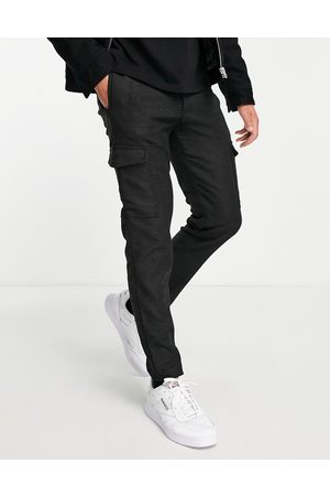 River Island Flannel cargo trousers in grey