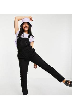 Dr Denim Relaxed fit dungarees in black