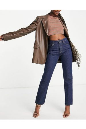 French Connection Straight leg high waist jeans in indigo-Blue