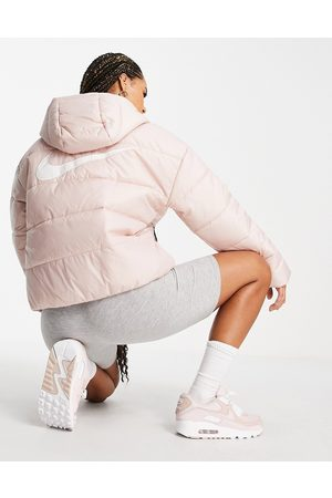 Nike Classic padded jacket with hood in pink oxford