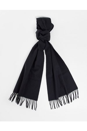 GANT Wool scarf in black with small heritage logo