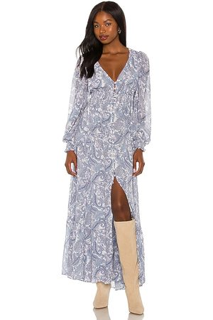 For Love & Lemons Mulher Vestidos Compridos - Janelle Maxi Dress in - Blue. Size L (also in M, S, XS).