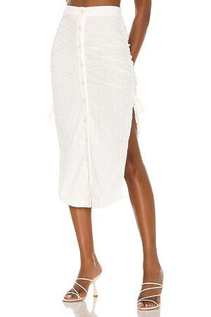MAJORELLE Mara Midi Skirt in - . Size L (also in M, S, XL, XS, XXS).