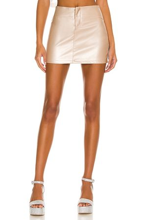 MORE TO COME Mulher Mini-saias - Rylie Mini Skirt in - Metallic Neutral. Size L (also in M, S, XL, XS, XXS).