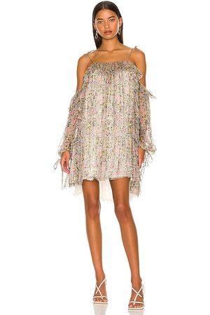 Tularosa Elodie Mini Dress in - Neutral. Size L (also in M, S, XL, XS, XXS).