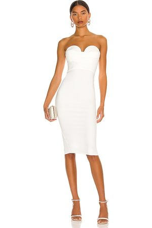 MORE TO COME Mulher Vestidos Midi - Sophia Strapless Midi Dress in - . Size L (also in M, S, XL, XS, XXS).
