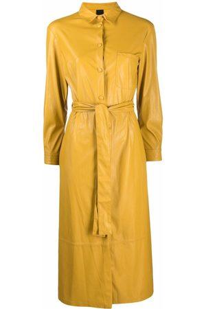Pinko Mulher Vestidos Casual - Belted midi shirtdress