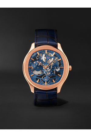 PIAGET Homem Relógios - Polo Skeleton Automatic 42mm 18-Karat Pink Gold and Alligator Watch, Ref. No. G0A46009