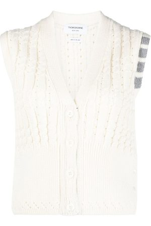 Thom Browne Cable knit vest top