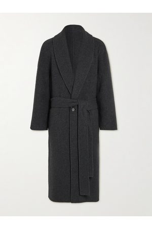 The Row Ake Shawl-Collar Belted Virgin Wool and Cashmere-Blend Coat