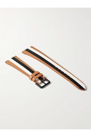 laCalifornienne B&W Striped Leather Watch Strap