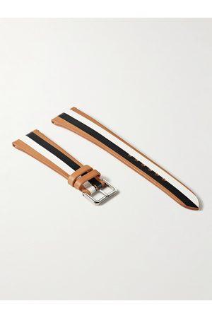 laCalifornienne Homem Relógios - B&W Striped Leather Watch Strap
