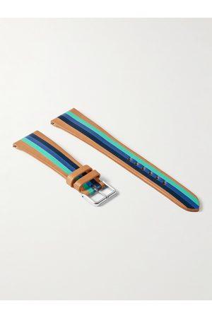 laCalifornienne Aquatica Striped Leather Watch Strap