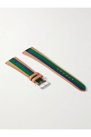 laCalifornienne Ivy Striped Leather Watch Strap