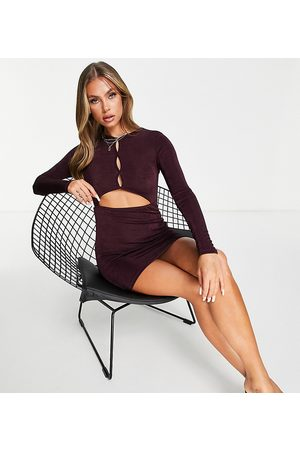 AsYou Cut out textured slinky dress in wine