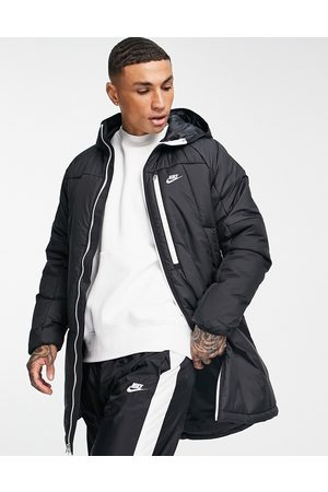 Nike Homem Parkas - Legacy Therma-FIT insulated long parka coat in black