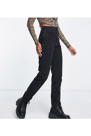 Reclaimed Mulher Retos - Inspired 81' straight leg jean in washed black