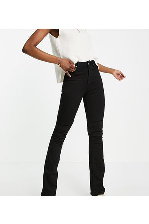 ASOS Mulher Jeans - ASOS DESIGN Tall high rise 'lift and contour' flare jeans in clean black