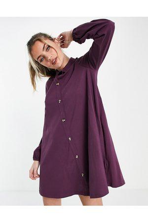 ASOS Mulher Vestidos de Festa - Mini dress with lace trim collar in purple