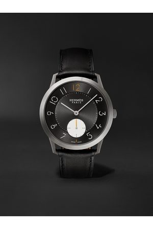 Hermès Homem Relógios - Slim d'Hermès Titane 39.5mm Titanium and Alligator Watch, Ref. No. 052845WW00