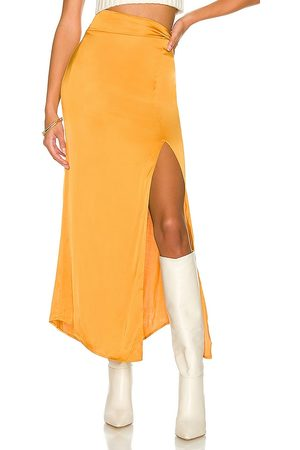 House of Harlow X REVOLVE Jayan Skirt in - Mustard. Size L (also in M, S, XL, XS, XXS).